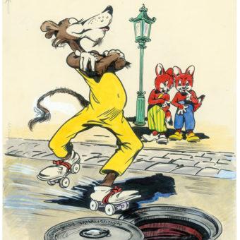 Rückseite Fix und Foxi Nr. 26, 1954, Zeichnung: Darul van der Heide und Werner Hierl – © Your Family Entertainment